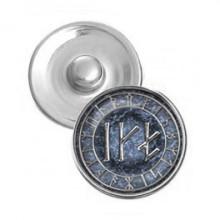 NSK040 Кнопка 18,5мм Зеркальный личный амулет