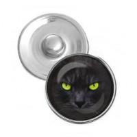 NSK064 Кнопка 18,5мм Чёрный кот