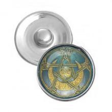 NSK068 Кнопка 18,5мм Лунная пентаграмма