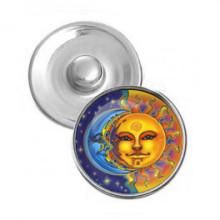 NSK073 Кнопка 18,5мм Солнце и луна