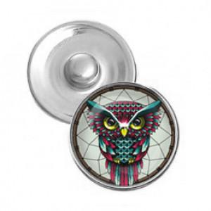 NSK080 Кнопка 18,5мм Ловец снов сова