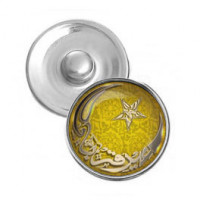 NSK085 Кнопка 18,5мм Полумесяц и звезда