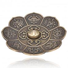 PBK016-B Подставка для благовоний Лотос, цвет бронзовый