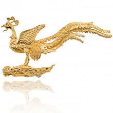 PBK017 Подставка для благовоний Жар-птица, цвет золотой