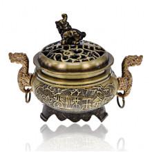 PBK054-B Курительница для благовоний Два дракона, цвет бронзовый