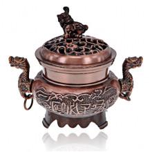 PBK054-C Курительница для благовоний Два дракона, цвет медный