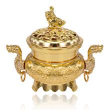 PBK054-G Курительница для благовоний Два дракона, цвет золотой