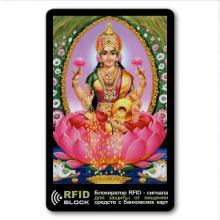 RF054 Защитная RFID-карта Лакшми, металл