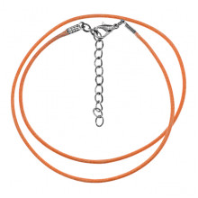 SH001-OR Классический шнурок для амулета с застёжкой, цвет оранжевый