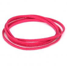 SHZ1047 Замшевый шнурок для амулета, цвет малиновый