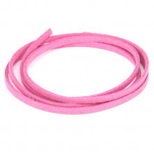 SHZ1069 Замшевый шнурок для амулета, цвет светло-розовый