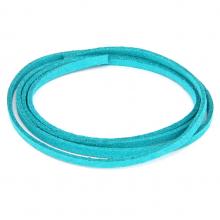 SHZ1143 Замшевый шнурок для амулета, цвет морской волны