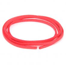 SHZ1144 Замшевый шнурок для амулета, цвет ярко-розовый