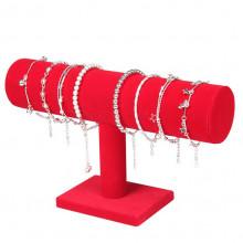 STN001-3 Дисплей для браслетов 23х14см, d.5см, красный бархат