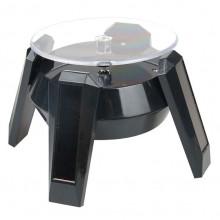 STN011-1 Вращающийся дисплей UFO на солн.батареях с подсветкой 13,5х8,5см чёрный
