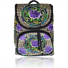 SUM015-3 Рюкзак с цветочным принтом 35х25х12см, ткань