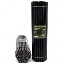 SVC-020 Свеча восковая Чёрная № 20, 305х9,6мм, время горения 3ч