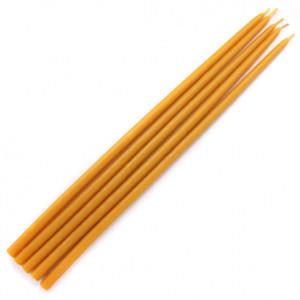 SVM5-Y Свеча магическая 32х0,9см, время горения более 2ч.30мин., 100% воск, цвет жёлтый