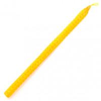 SVM6-Y Свеча из вощины 21х1,1см, время горения более 1ч.30мин., цвет жёлтый