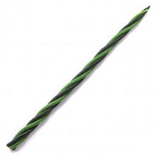 SVM7-09 Скрутка из 4-х свечей Преодоление трудностей, 100% воск, 21см, 2 чёрн., 2 зелён.