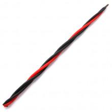 SVM7-17 Скрутка из 3-х свечей Восстановление сил, 100% воск, 21см, 2 чёрн., 1 красн.