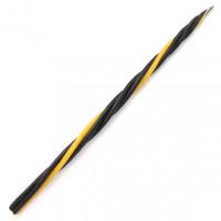 SVM7-20 Скрутка из 4-х свечей От сплетен и наговоров, 100% воск, 21см, 3 чёрн., 1 жёлт.