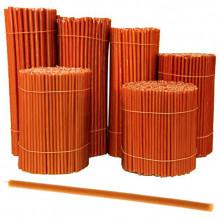 SVO-040 Свеча восковая Оранжевая № 40, 265х7,1мм, время горения 2ч
