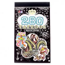 TTI012-18 Временные татуировки набор 5 листов 8,5х16см Драконы