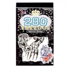 TTI012-29 Временные татуировки набор 5 листов 8,5х16см Тигры