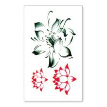 TTSY-A143 Временная татуировка Лотос, 60х105мм