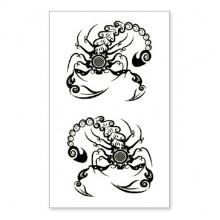 TTSY-A150 Временная татуировка Скорпион, 60х105мм