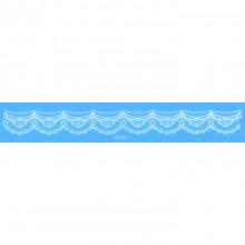 TTW009-03 Временная татуировка Кружевная повязка, 21х3,5см