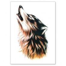 TTWX-001 Временная татуировка Волк, 150х210мм