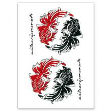 TTWX-006 Временная татуировка Рыбы, 150х210мм