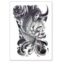 TTWX-020 Временная татуировка Карп, 150х210мм