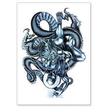TTWX-038 Временная татуировка Дракон, 150х210мм
