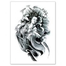 TTWX-040 Временная татуировка Гуаньинь, 150х210мм