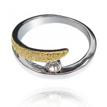 UC006-16 Кольцо со стразой, размер 16