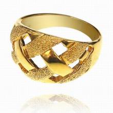 UC011-16 Кольцо Плетёнка, цвет золотой, размер 16