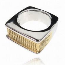 UC024-17 Кольцо, цвет золотой, размер 17