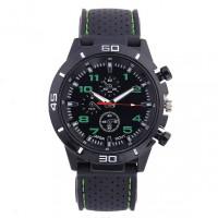 WA033-G Часы наручные чёрно-зелёные