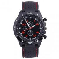WA033-R Часы наручные чёрно-красные