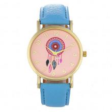 WA039-LB Часы наручные Ловец снов с голубым ремешком