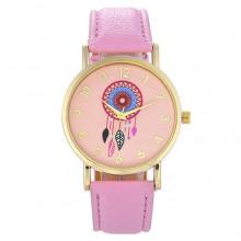 WA039-P Часы наручные Ловец снов с розовым ремешком