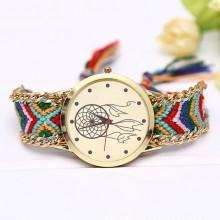 WA054-2 Часы наручные Ловец снов с плетёным браслетом