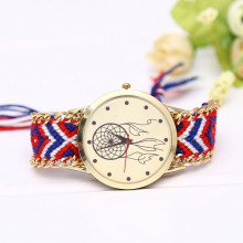 WA054-3 Часы наручные Ловец снов с плетёным браслетом