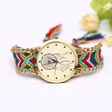 WA054-5 Часы наручные Ловец снов с плетёным браслетом