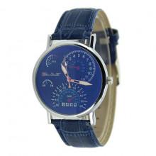 WA060 Часы наручные хамелеон с синим ремешком