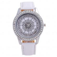 WA061 Часы наручные Астромандала, белый ремешок