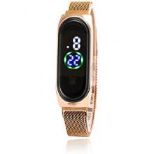 WA099-2 Наручные сенсорные часы, цвет золотой